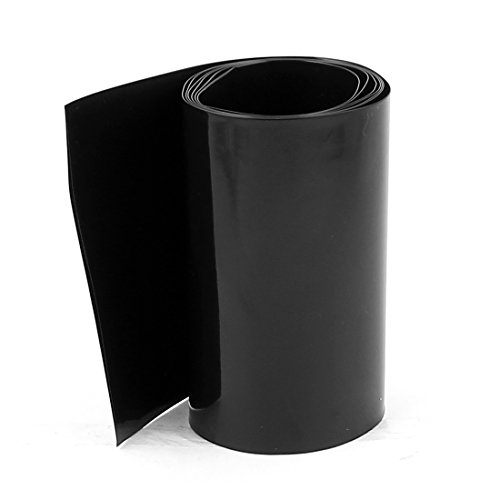 sourcing map 5m Largeur 29,5 mm Gaine PVC Tube thermor/étractable pour Orange 1 x 18650 Batterie