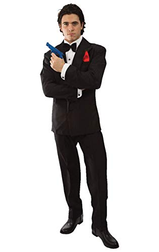 James Bond 007-Herren Kostüm Karneval Fasching Verkleidung Mottoparty Standard (James Kostüm Bond)