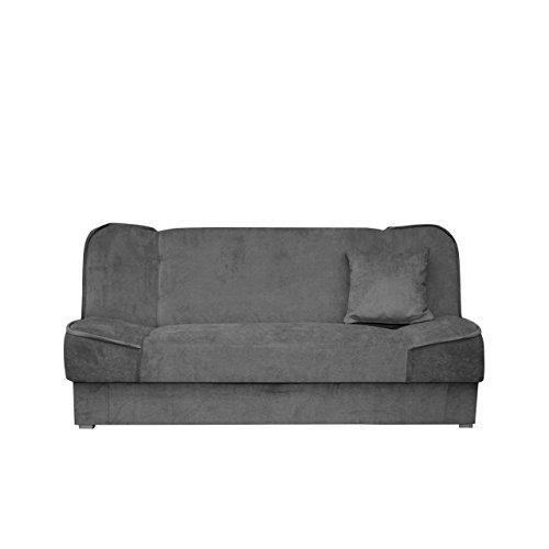 Schlafsofa Gemini mit Bettkasten, 3 Sitzer Sofa, Couch mit Schlaffunktion, Bettsofa Schlafsofa Polstersofa Farbauswahl Couchgarnitur (Orinoco 96)