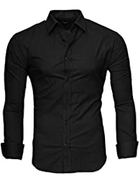 7c2d30b2dced0 Kayhan Hombre Camisa Manga Larga Slim Fit S-6XL - Modello Twoface + London