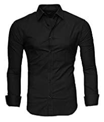 Idea Regalo - Kayhan UNI camicia slim fit, Black (L)