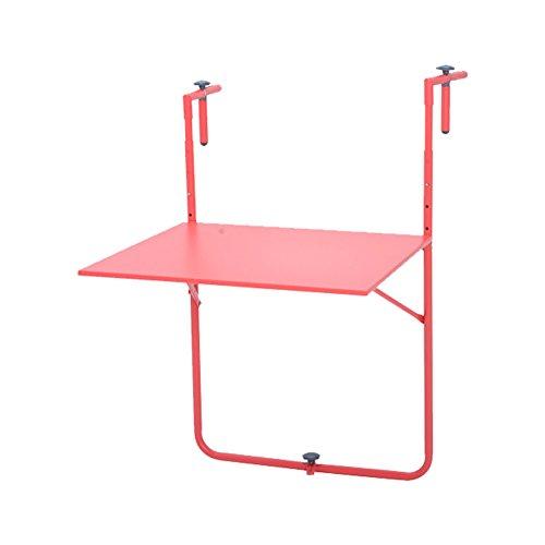 Table pliante en métal Balcon extérieur Balançoire Table à suspendre Table d'art en fer Bureau d'ordinateur simple moderne Simple ( Couleur : Vert )