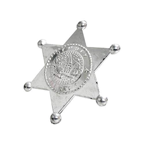 Kostüm Sheriff Abzeichen - Toyvian 10pcs stellvertretender Sheriff Abzeichen Spielzeug Polizei Kostüm Zubehör Kinder Party Favors