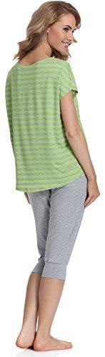 Merry Style Pyjama Femme MS540 Gris/Citron Vert