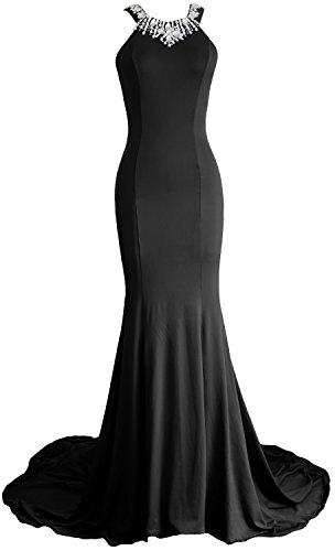 MACloth - Robe - Moulante - Sans Manche - Femme Noir