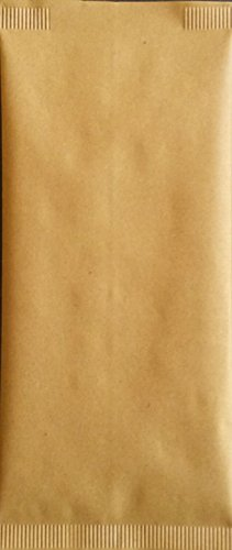 Sac en Papier Paille 10 x 25 + Serviette 40 x 40 enveloppe Porte Couteau Cuillère Porte Couverts pour apéritif apericena et Happy Hour pour aliments 1000