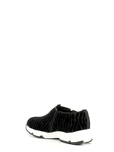 Guess Lety Active Printed Fabric donna, pelle scamosciata, sneaker slip on Black