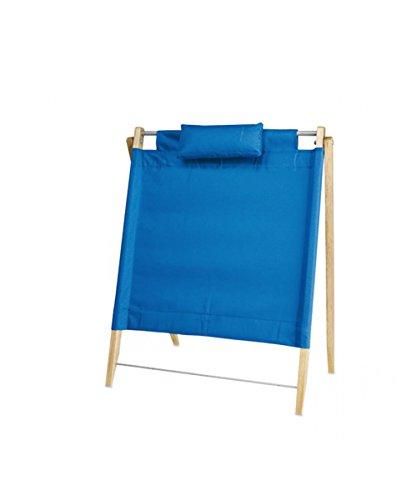 Sedia da spiaggia - schienale pieghevole portatile 49 x 66 cm colore blu - kamiustore