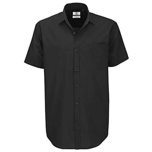 B&C Collection Heritage short sleeve /men Black