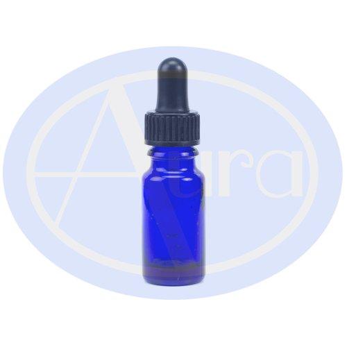 5er-PACKUNG - 10ml BLAUGLAS-Flaschen mit GLAS-Pipetten. Ätherisches Öl / Verwendung in Aromatherapie
