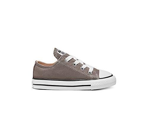 Converse Chuck Taylor All Star Season Ox 015760-21-122, Unisex - Kinder Sneaker, Grau (Anthracite), EU 20