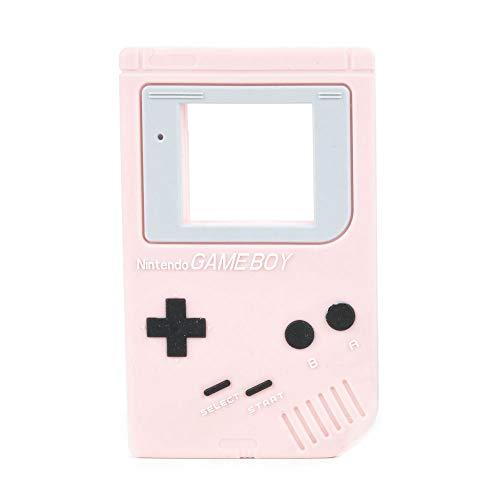 Game Boy Form Sinnes Beißring Baby Spielzeug - Soft, natürliche antibakterielle Silikon - Best für Sore Gums Schmerzlinderung, Umweltfreundlich, BPA frei, Gefrierschrank Safe - Rosa