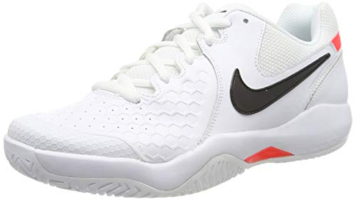 Nike Air Zoom Resistance, Scarpe da Tennis Uomo, Mehrfarbig (White/Black-Bright Crimson 105), 42 EU