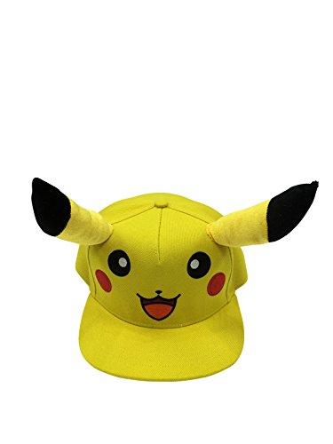 Official-Pokemon-Pikachu-Snapback-Baseball-Cap-Yellow-And-Black-Brand-New