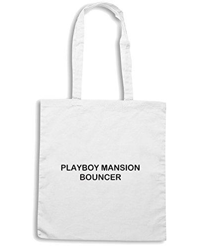 T-Shirtshock - Borsa Shopping TDM00219 playboy mansion bouncher Bianco