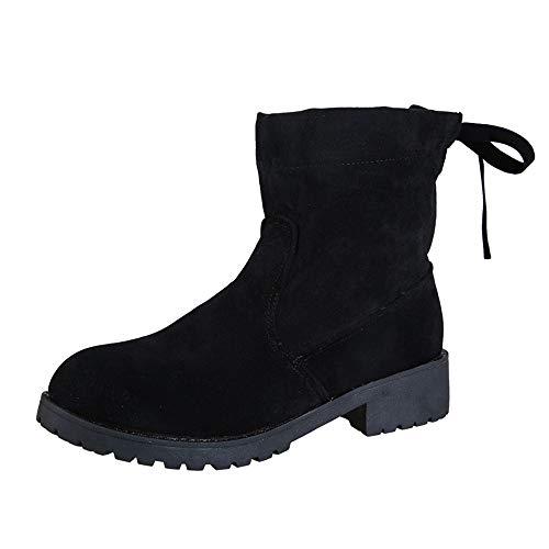 NDGDA Platform Damen Stiefeletten Britische Wind Wildleder Complex Valley Bare Boots