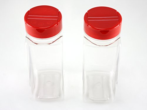 skyway-supreme-large-16-oz-clear-plastic-spice-bottles-jars-containers-set-of-2-flap-cap-pour-and-si