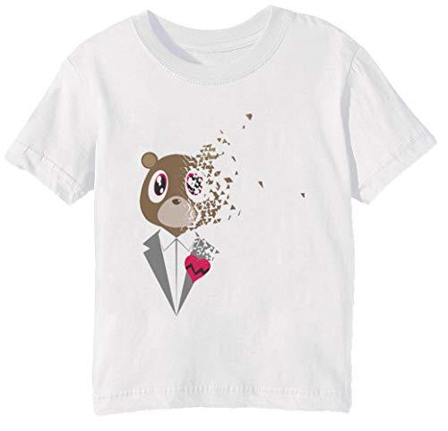 (Tschüss Herzeleid - Herzeleid Kinder Unisex Jungen Mädchen T-Shirt Rundhals Weiß Kurzarm Größe S Kids Boys Girls White Small Size S)