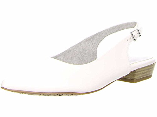 Tamaris Sling Pumps 1-29402-20 Matt Damen Schuhe Lack & Metallic, Schuhgröße:41;Farbe:Weiß