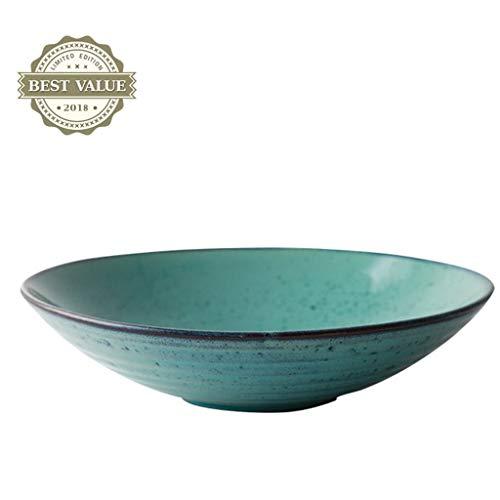 Beau et pratique Assiettes Assiettes Assiettes à dessert Assiette créative Assiette creuse en céramique Grand assiette à pâtes Assiette en porcelaine Vaisselle japonaise (taille: 23.5cm (9.2 pouces))