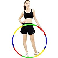 Hula Hoop, Hoopa Hula, Exercise Ring for Fitness with 30 inch Diameter(8 pcs) for Adults and 23 inch Diameter(6 pcs) for…