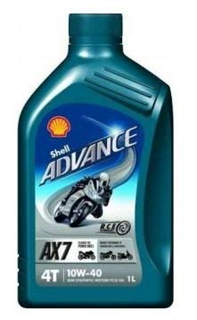 Shell 550027074 Advance 4T AX7 10 W 40 Moto Olio Moto