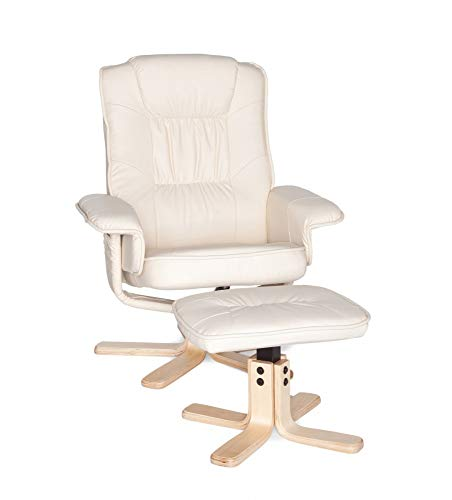 Beauty.Scouts Mila Möbel Collection Relaxsessel Loungesessel Aline Kunstleder beige Creme...