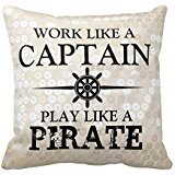 Work Like A Captain, Play Like A Pirate Pillows 1 piece of Creative Home Famous style Bedding Sofa Cushion Cover Pillow Case Pillo wcase