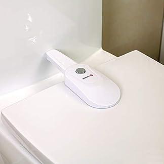31VA3MUvqIL. SS324  - Seguridad para Bebés Cierres de Inodoro Tapas de Prueba para Niños Pequeños Asientos de Inodoro Baño en Casa Protección de Herramientas de Seguridad-se Adapta a la Mayoría de Inodorosadhesivo 3M