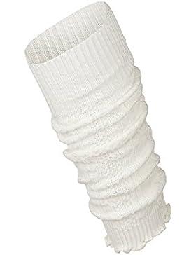 Piarini 1 Paar Bein Stulpen Damen | warme Beinstulpen Strick | Weiß Weinrot Anthrazit Marine One-Size