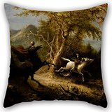 Uloveme Oil Painting John Quidor - The Headless Horseman Pursuing Ichabod Crane Cushion Covers 20 X 20 Inches / 50 By 50 Cm Best Choice For Drawing Room,boys,play Room,father,club,couch With Twin S