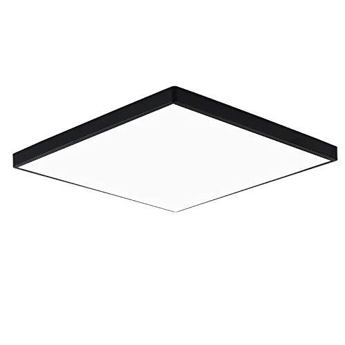 BFMBCHDJ Luz de techo LED moderna Luz LED Iluminación de sala de estar Redondo y cuadrado 3CM LED delgado...