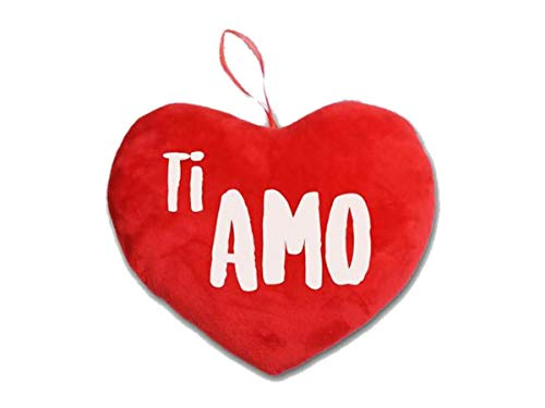Cuscino peluche cuore cuoricino con scritta ti amo per san valentino