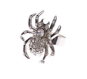 Ring Spinne mit Steinchen (Kostüme Ring Halloween)
