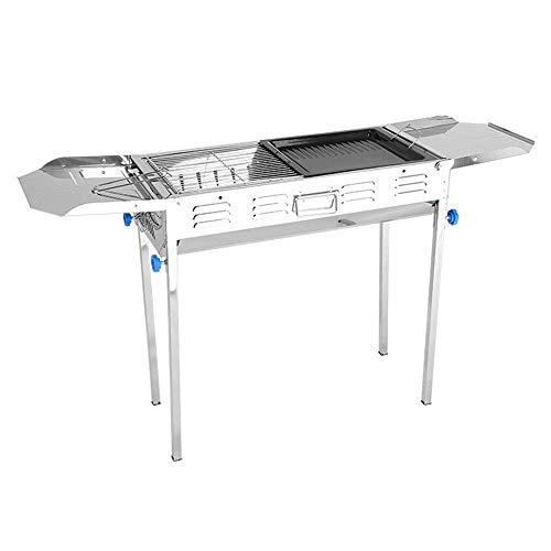 ZJSK Easy Barbecues Set Klappgrillrost Klappgrill Heller Holzkohlegrill Grill ist Nicht klebrig Grillofen 5-15 Personen Camping Barbecue Barbecue