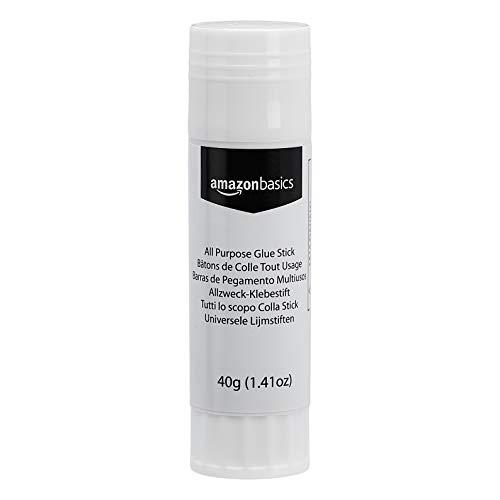 AmazonBasics - Allzweck-Klebestift, abwaschbar, große Größe, 40 g, 5er-Packung