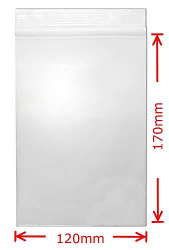 WeltiesSmartTools Premium Druckverschlussbeutel 90my 100 Stück 120x170 mm Transparent Lebensmittelecht Wiederverschließbar FBA geeignet - 15 vers. Größen