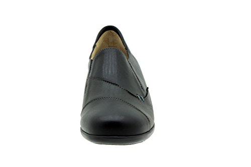 Scarpe donna comfort pelle Piesanto 5983 scarpe bassi casual comfort larghezza speciale Negro/Gris