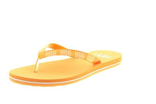 UGG Damenschuhe - Zehentrenner SIMI Graphic Sunkissed, Größe:38 EU - Gelb Ugg