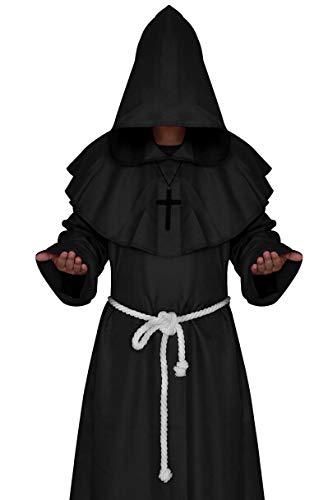 Hiswill mittelalterliche mönch Cosplay kostüme Zauberer Kapuzen - Gewand Bruder prieste