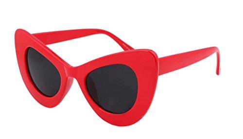 FEISEDY Cat Eye Retro-Acetat-Rahmen Polycarbonat-Linsen Frauen Sonnenbrille B2239