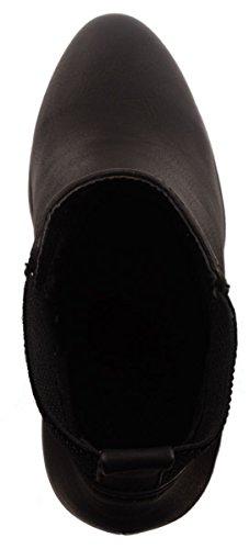Elara Ankle Boots | Trendige Damen Stiefeletten | Blockabsatz Plateau Schwarz Hamburg
