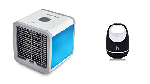 Premsons® Arctic Air Portable 3 in 1 Conditioner Air Cooler Humidifier Purifier Mini Cooler (White) with S05C Mini 3W V3.0/3.5mm Micro USB/Mic Bluetooth Speaker (Colours May Vary)