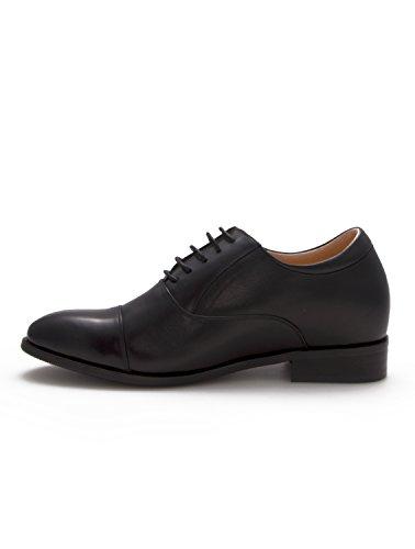 Zeraltos - Chassures réhaussantes pour homme, +7 Cm plus grand! Chaussures en cuir de qualité Bleu