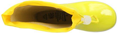 Playshoes aus Naturkautschuk gefüttert Unisex-Kinder Halbschaft Gummistiefel Gelb (gelb 12)