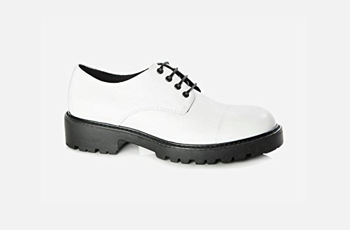 Vagabond Kenova Classic Shoes Gripfast Outsole White-Baskets blanches avec lacets semelle carroarmato Blanc Cassé - Blanc