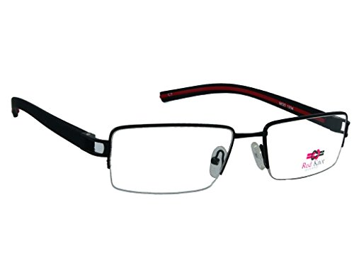 Red Knot Eyewear Red Knot Black Half Rim Unisex Spectacle Frame Mod 1204 1133
