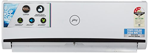 Godrej 1 Ton 3 Star (2018) Split AC (Copper, GSC 12 RGN 3 DWQH, White)