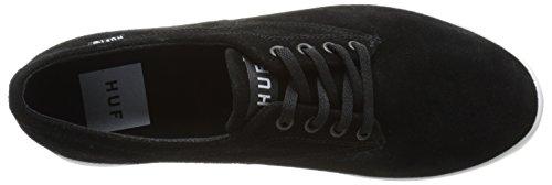 Huf Skate Shoes - Huf Sutter Skate Shoes - Black / White Black