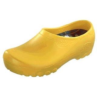 Alsa Jolly Fashion Herren Clogs PU, Gelb, Größe 47 mit normalem Fußbett
